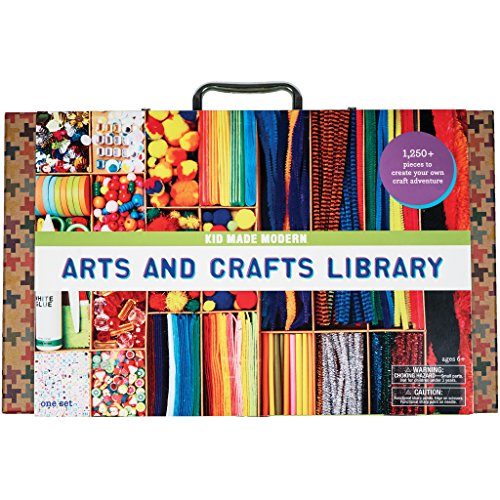 Kid Made Modern Arts And Crafts Library Set - Kid Craft Supplies | Art Projects In A Box ()