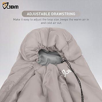 JBM Sac de Couchage avec Sac Compact en 3 Saisons 60 ° F (15