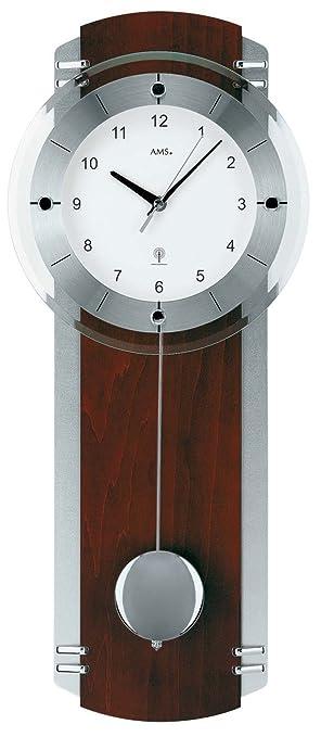 AMS 5245/1 - Reloj de péndulo (controlado por radio, nogal): Amazon.es: Hogar