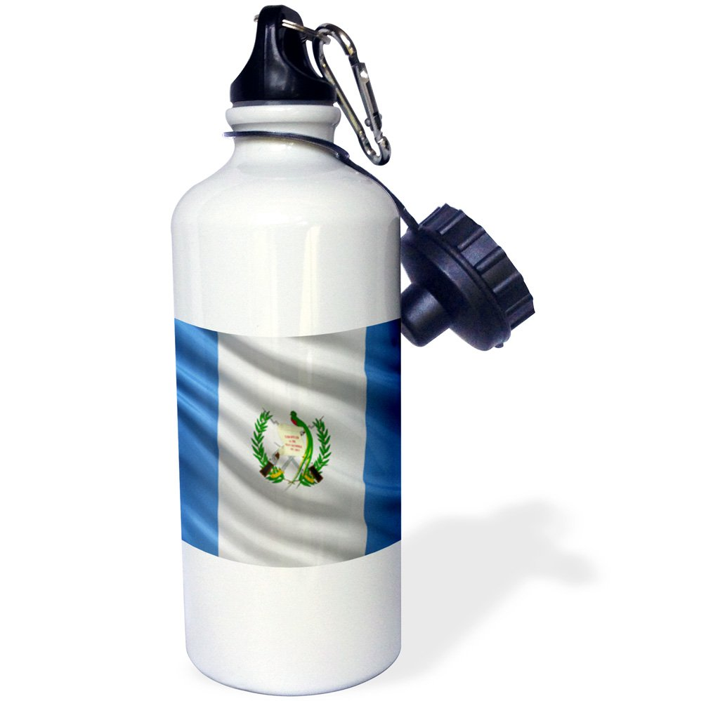3dRose wb/_178070/_1 Flag Of Guatemala Waving In The Wind Sports Water Bottle 21 oz Multicolor