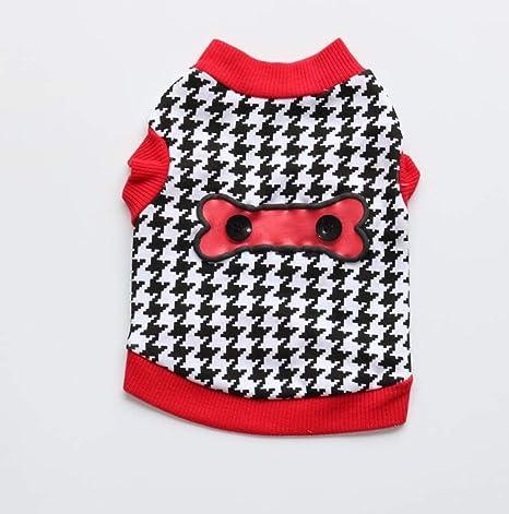 Kevinliu T-camisa cómoda ropa for perros algodón estampado ...