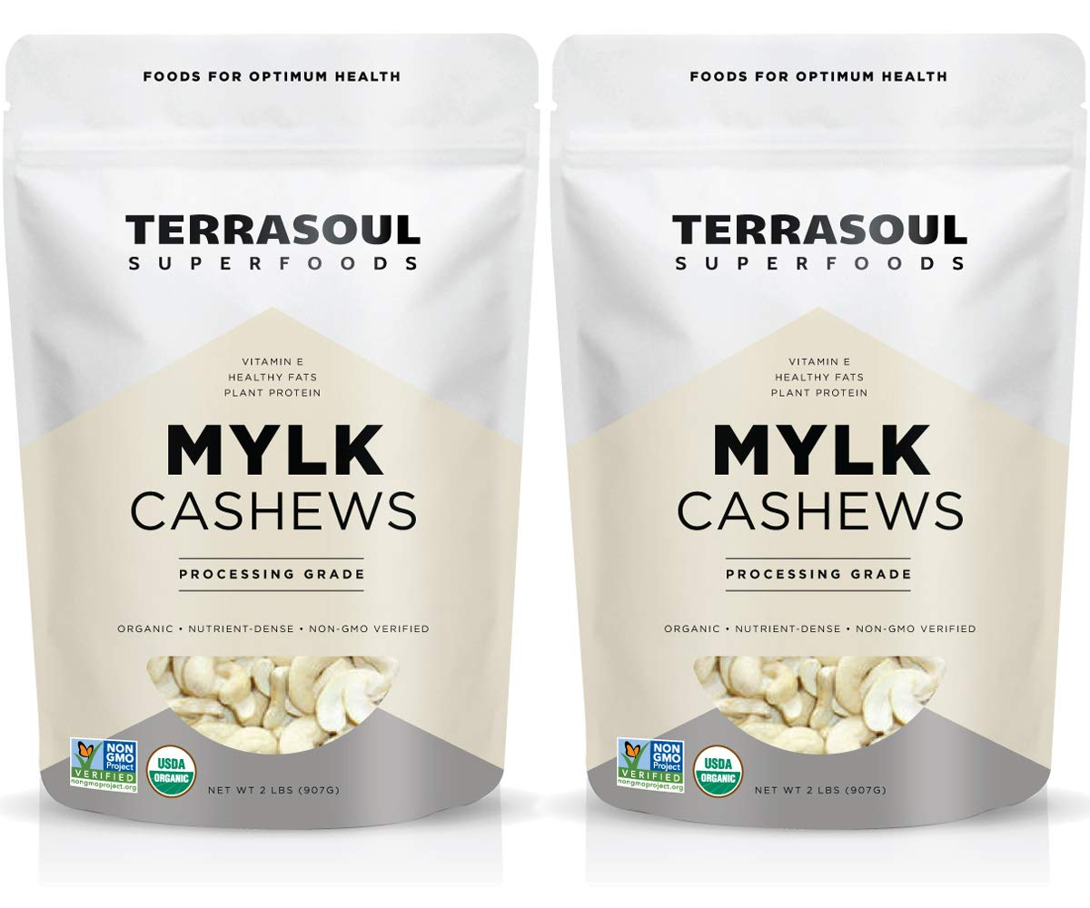 Terrasoul Superfoods Organic Raw Cashews (Mylk Grade), 4 Pounds by Terrasoul Superfoods
