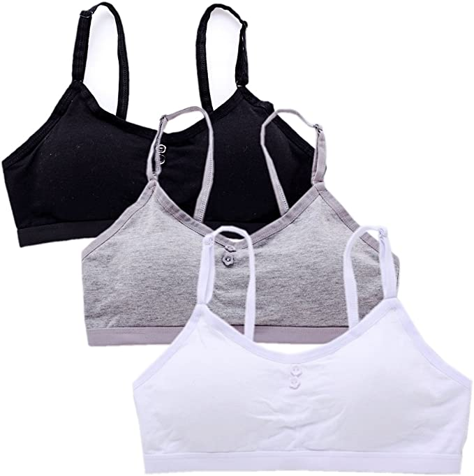 VeaRin Big Girls Seamless Wirefree Soft Cami Padded Training Bras