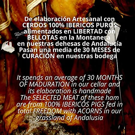 Jamon Iberico de Bellota 100% Reserva Pata Negra - Embutidos Ibericos de Bellota Patanegra - Pieza Tradicional Completa