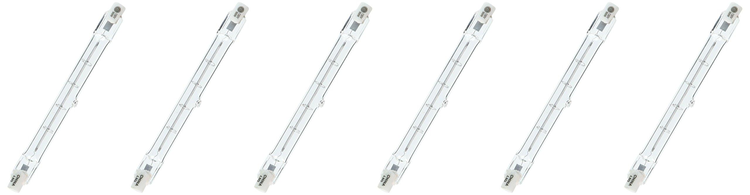 GE Lighting 24931 Proline500 Halogen T3 130V 500-Watt Light Bulb, 6-Pack
