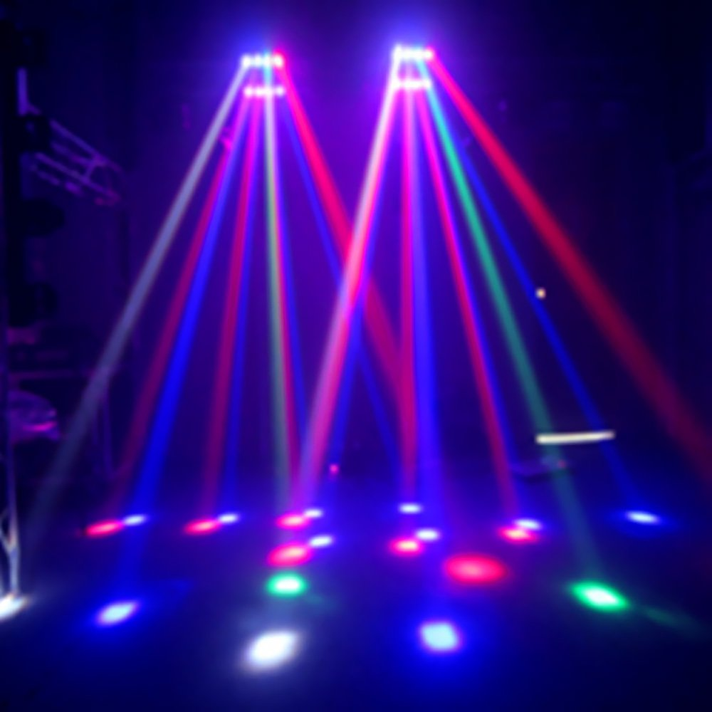 Amazon Lixada 8x10W DMX512 RGBW Head Moving Rotatable LED Mini Spider Stage Beam Light Effect Lamp Color Changing Sound Activated Auto Running 13 19