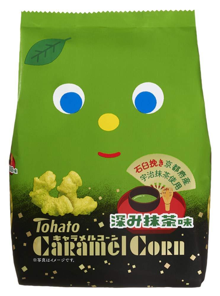 Tohato Caramel corn snack Matcha Green tea flavor 77g Japan Dagashi