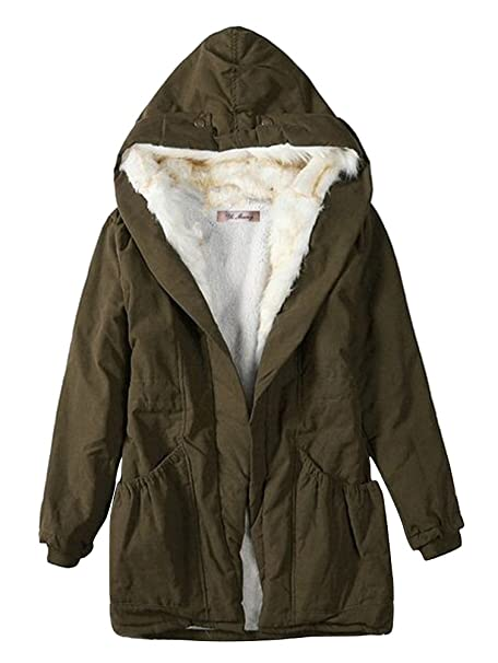 ACE SHOCK Winter Coat Women Hooded Cotton Padded Jacket Long Lamb Wool Parka Thicken 4