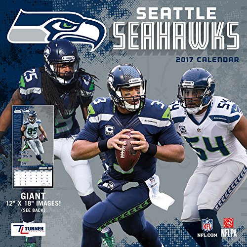 Turner Licensing Sport 2017 Seattle Seahawks Team Wall Calendar, 12