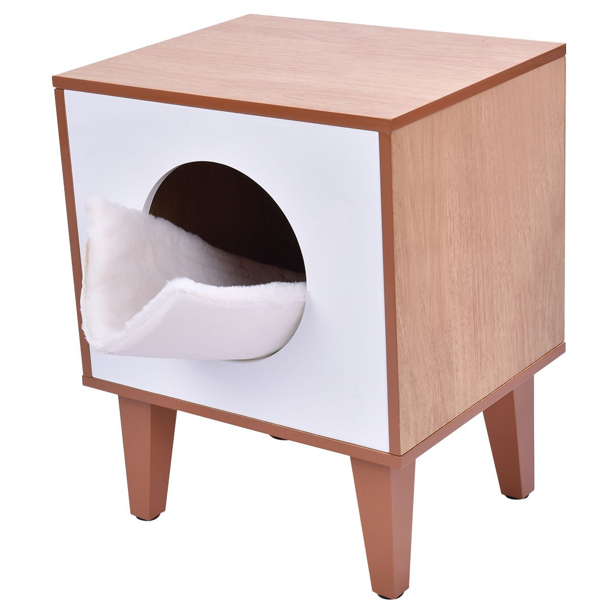 New Cat Box Cushion Bed Cleaning Enclosure Hidden Pet Cabinet Furniture Wood by totoshoppet (Image #2)