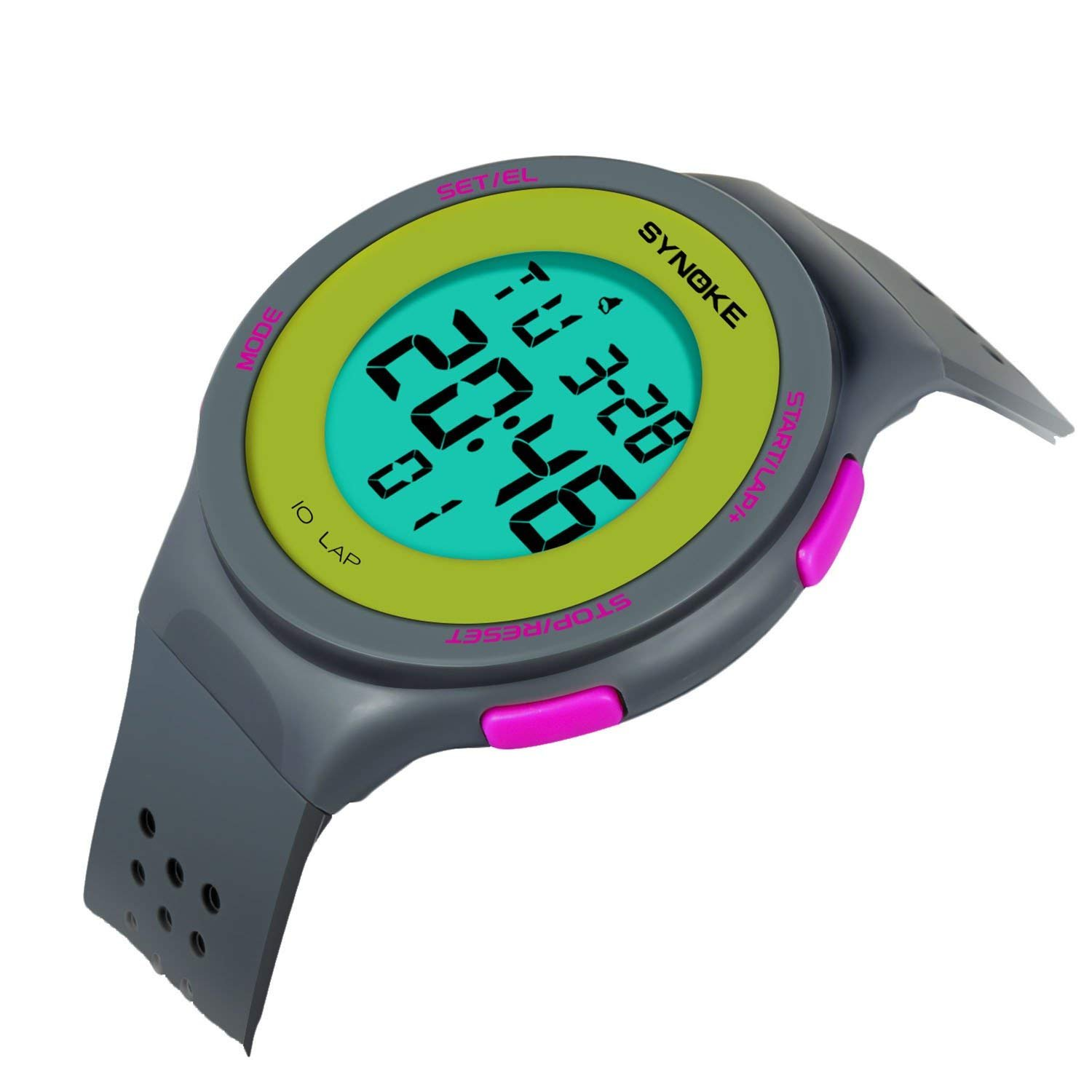 Kids Digital Watches for Girls Boys Sports Waterproof Alarm Watch with Reminder Stopwatch Outdoor Child Wristwatch for Youth Children 8-15y (Grey)