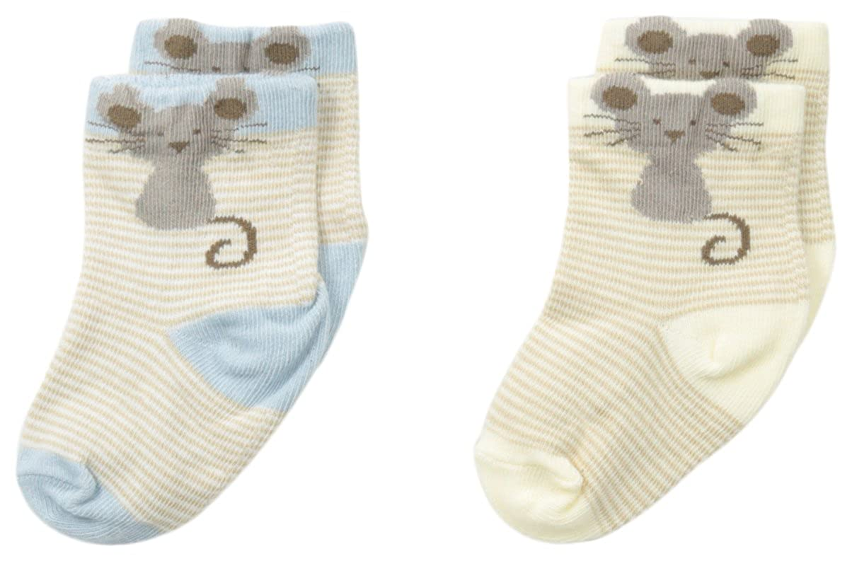 Country Kids Baby Boys Newborn Little Mouse Bootie 2 Pair