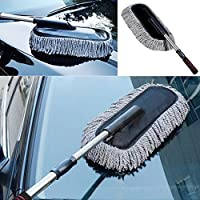 Lukzer 1 PC Microfiber Car Cleaning Retractable Brush Duster Removal/Washer Sponge Car Care Cleaning Retractable Dusting Polishing Tool