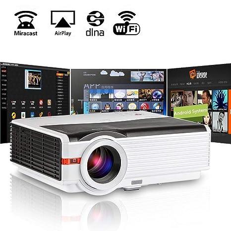 TV Proyector LED WiFi 5000 lúmene,Proyectores de Android ...