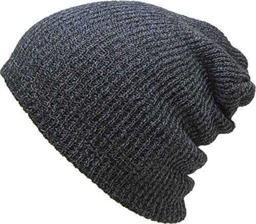 Review KBW-10 DGY Slouchy Beanie Baggy Style Skull Cap Winter Unisex Ski Hat,(10) Dark Gray,One Size Fits All