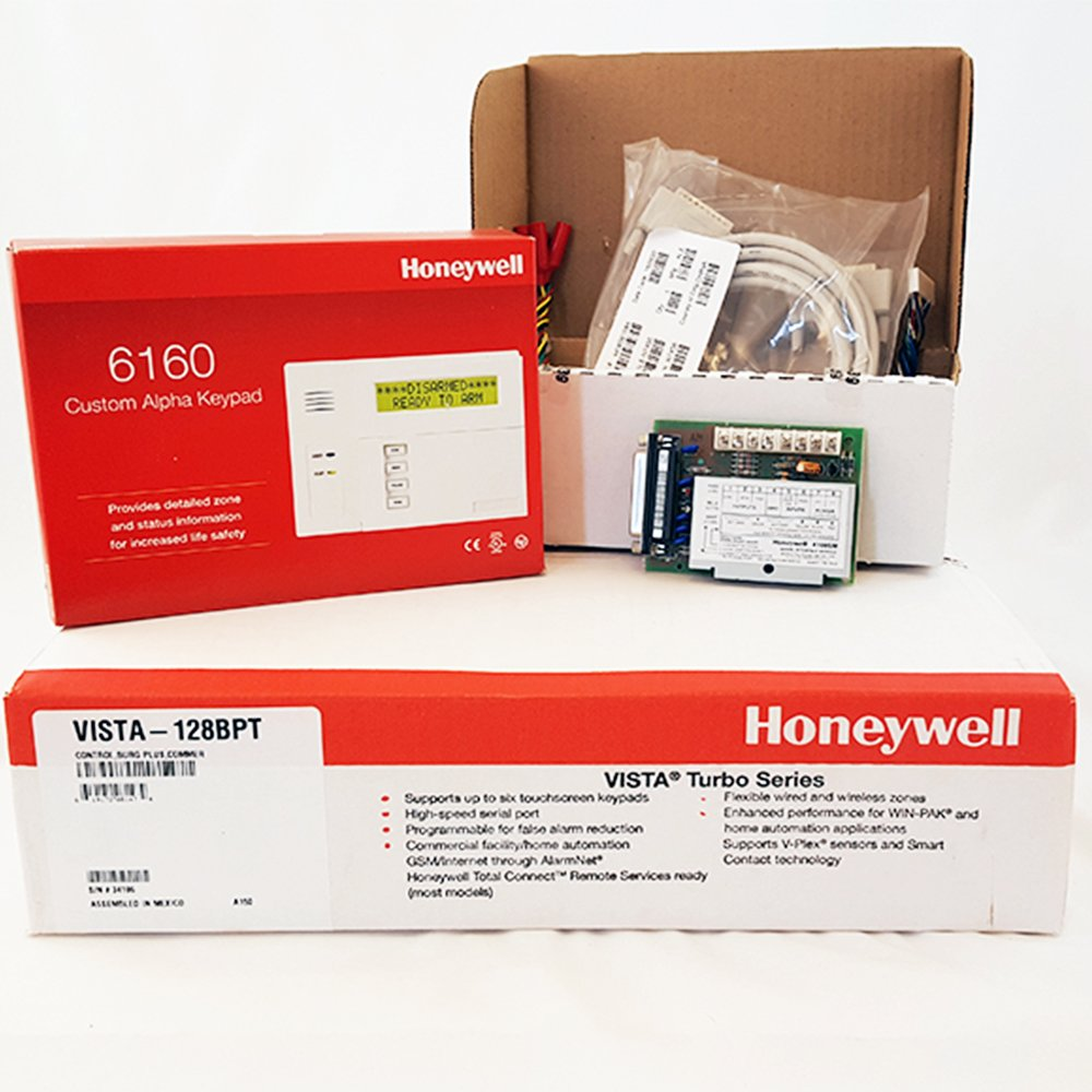 Amazon.com: Honeywell Vista 128BPT, 6160 Keypad, and 4100SM Kit: Electronics
