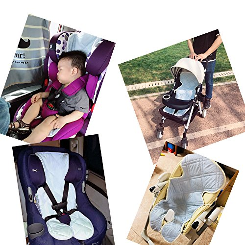 ALYER Touch-Cooling Technology Baby Car Seat Liner,Comfortable Stroller Cushion/Pad,Infant Highchair Mat by ALYER (Image #6)