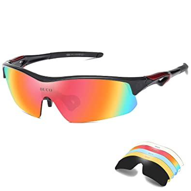 9ea4fca61b00 Image Unavailable. Image not available for. Color  DUCO Polarized Sports  Cycling Sunglasses ...