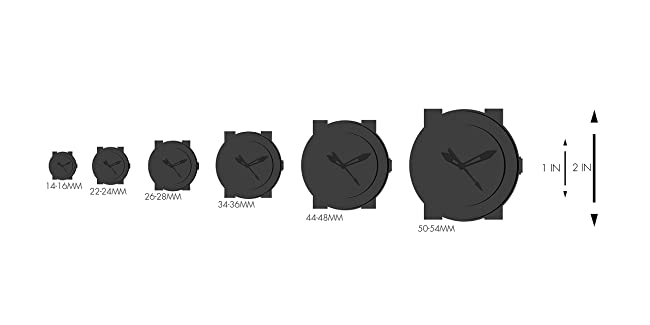 Comparison of different watch sizes