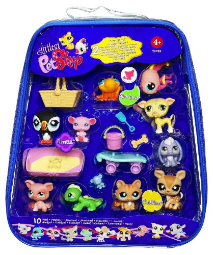 Littlest Pet Shop 90382 Bobble-Head Pets (10-Pack) (Discontinued by manufacturer)