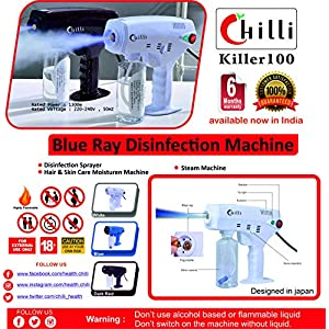 Chilli Killer 100 Blue-ray Disinfectant Spray Machine with 6 months warranty suitable for sanitization of home and…