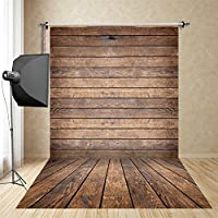 FUS 5X10FT Latest Waterproof Cotton Polyester Photography Background Washable Christmas Backdrop Brown wood FD-4926