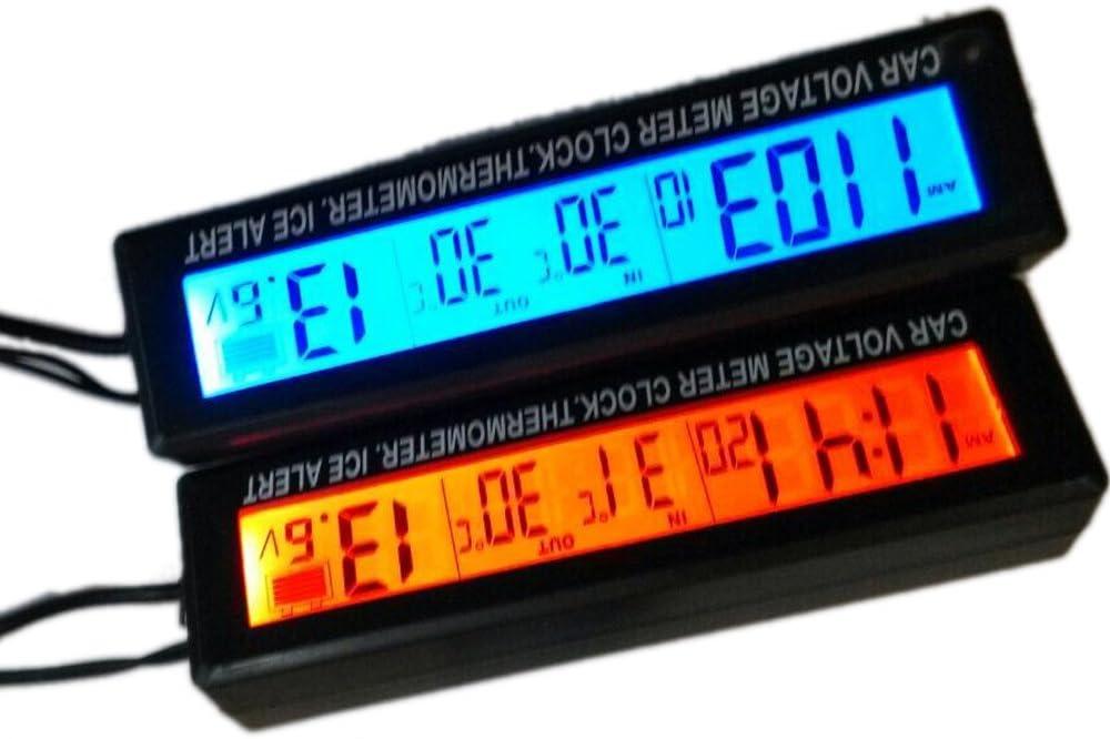 geneic Auto Thermometer mit Hintergrundbeleuchtung Funktion Digital Uhr Auto Elektronik Innentemperatur LCD Display Gauge