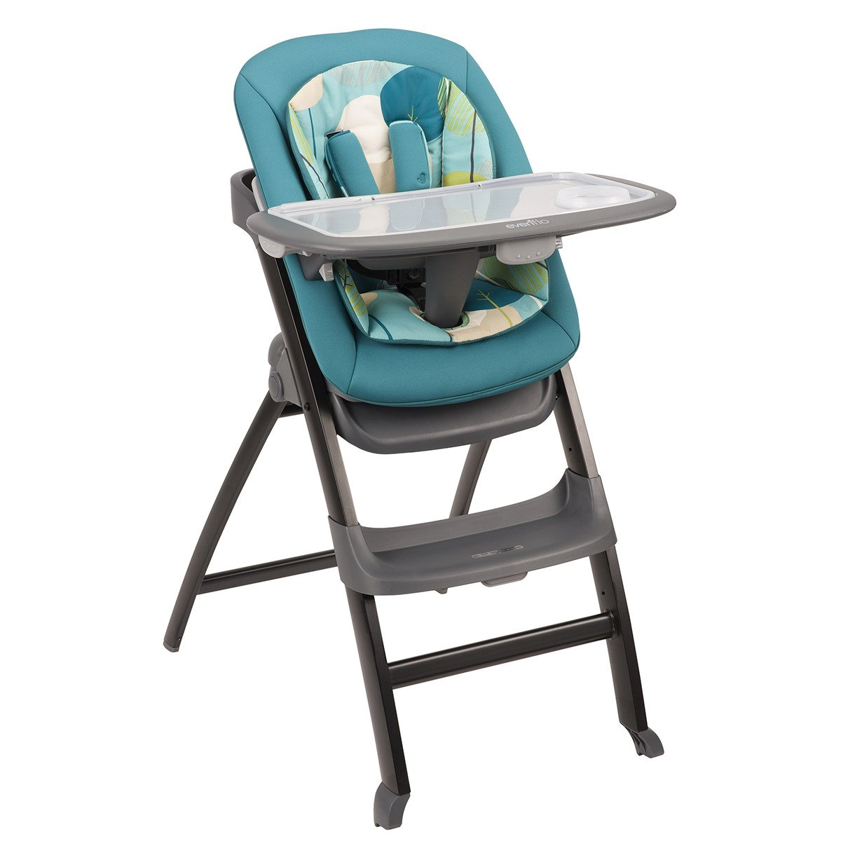 Evenflo Quatore 4 in 1 High Chair, Deep Lake, Teal 29411814