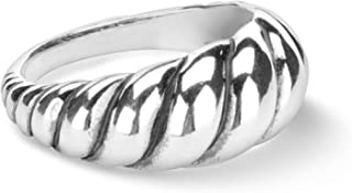 product image for Carolyn Pollack Sterling Silver Smooth Rope Ring Sizes 5 to 10