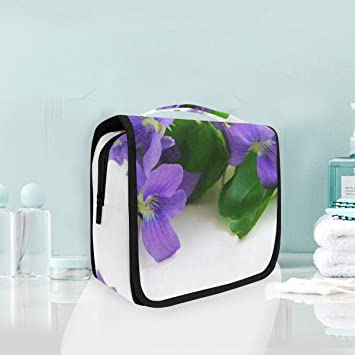 9abe280c848227 Toiletry Wash Bag Cosmetic Makeup Travel Toiletry Bag with Viola Philippica  for Women