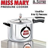 Hawkins Miss Mary Aluminium Pressure Cooker, 8.5 litres