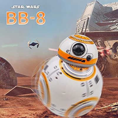 Pinjeer Star Wars BB-8 RC Robot Star Wars BB-8 2.4GHz Remote Control Figure Robot Action Robot Sound Intelligent Toys Car for Kids 3+: Home & Kitchen
