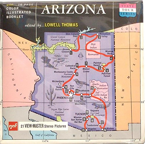 Arizona State Tour 3d View-Master 3 Reel Packet
