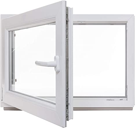 Premium Kunststofffenster Von Komforta Kellerfenster Wei/ß BxH 1000 x 700 mm Din Links-Funktion Dreh Kipp Fenster-Alle Gr/ö/ßen Garagenfenster//Gartenhaus Fenster BxH 100 x 70 cm 3-fach Verglast