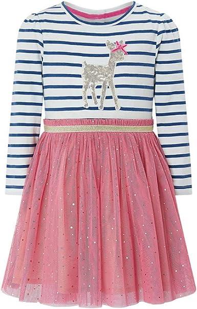 siphly Vestido Niña Algodón Bebé Niña Vestido para Niña Primavera Otoño: Amazon.es: Ropa y accesorios