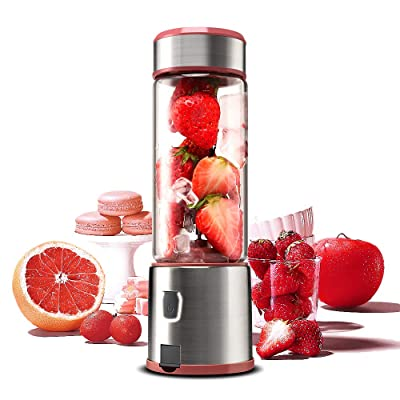 Personal Glass Blender, TOPQSC USB Rechargeable Portable Travel Blender for Shake and Smoothie