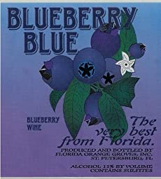 Blueberry Blue - SEMI-SWEET Blueberry Wine