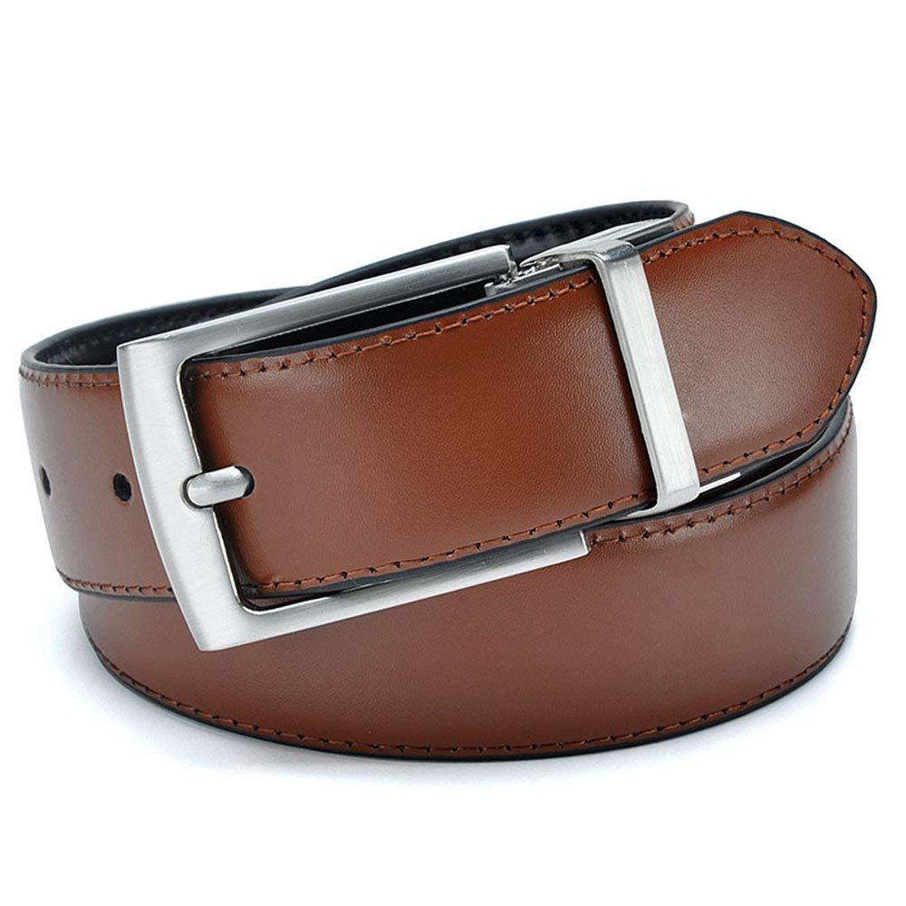 ZFADDS Revolvable Buckle Belts For Men Formal Business Leather Belt With Double Side 3.5 Cm Belts