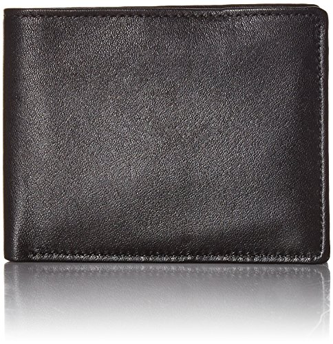 Perry Ellis Men's Gramercy Passcase Wallet, Black, One Size