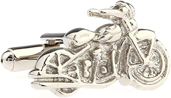 MRCUFF Motorcycle Street Bike Cruiser Pair Cufflinks in a Presentation Gift Box & Polishing Cloth