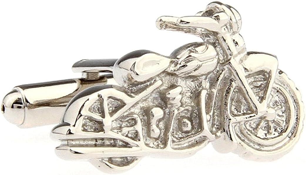 MRCUFF Motorcycle Chopper Street Bike Pair Cufflinks in a Presentation Gift Box /& Polishing Cloth