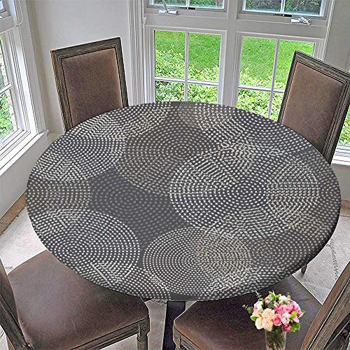 PINAFORE HOME Premium Tablecloth Vector Background with Decorative Dotted Circles Print Cloth Design Wallpaper Everyday Use 63