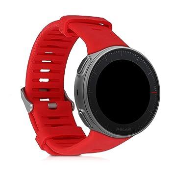 kwmobile Pulsera para Polar Vantage V - Brazalete de [Silicona] en [Rojo] sin Fitness Tracker