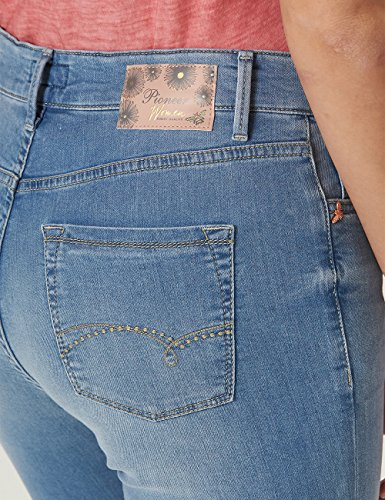 184 Buffies Donna blue Kate Jeans A Dritto Blau Used Bleached Pioneer With Taglio PHwX70wq