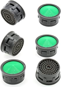 Faucet Aerator,FDXGYH 6pcs 1.5 GPM Flow Retrictor Insert Waternymph Faucet Aerator and Aquasource Faucet Parts for Bathroom Kitchen
