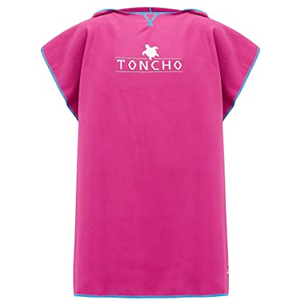 ca3cab995a TONCHO Children s Towel Poncho Changing robe - soft hooded compact beach  bath towel - ideal for