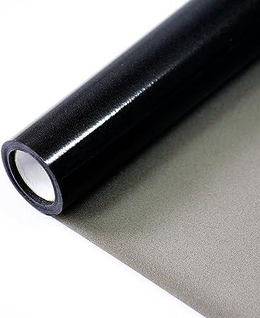 Film pour Vitre Fen/être Vitrage Statique Anti-UV D/époli Adh/érence en Vinyle Anti Regard Opaque Noir Auto Adh/ésif 40x200cm de Fancy-fix
