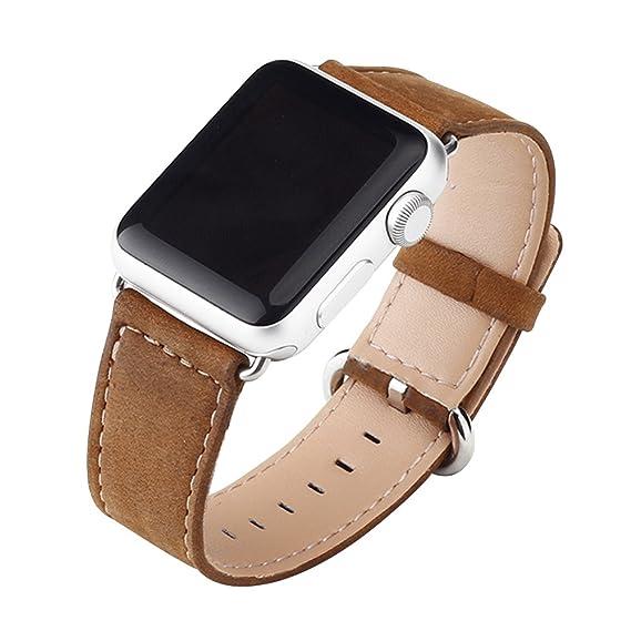 Cuitan Durable Lona Watch Band para 42mm Apple Watch iWatch, con Adaptador Banda Muñeca Correa de Reloj Reemplazo Reloj Muñeca Band Watchband Strap ...