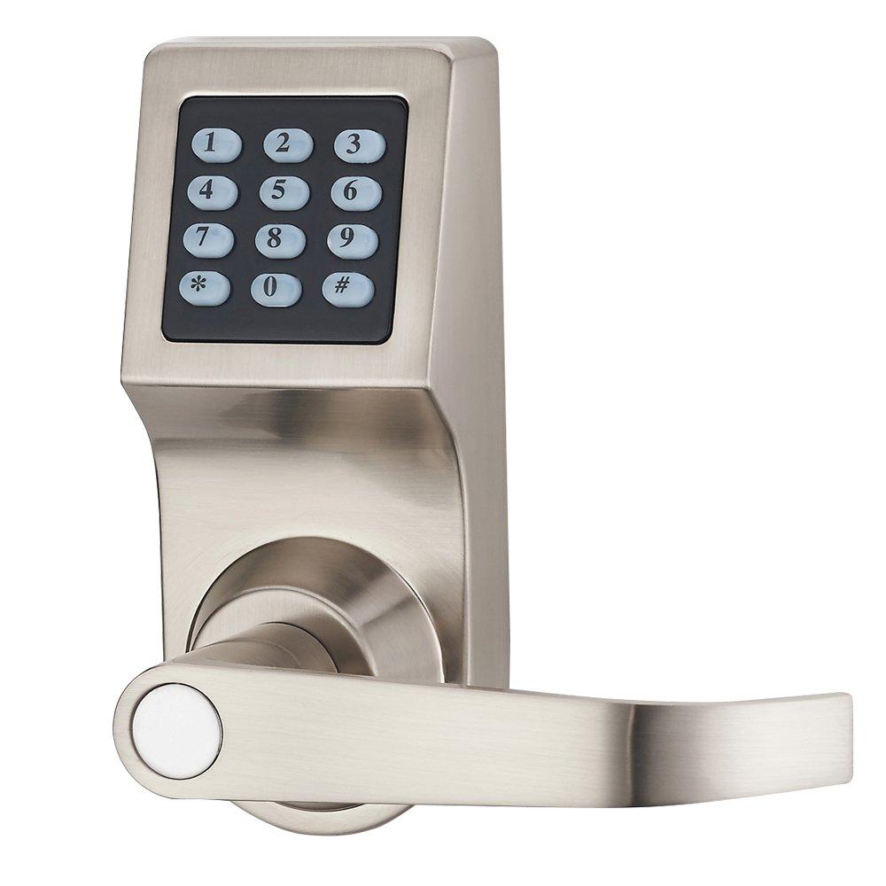 HENYIN Digital Door Lock,Unlock with M1 Card, Code and Key,Handle Direction Reversible (card version)