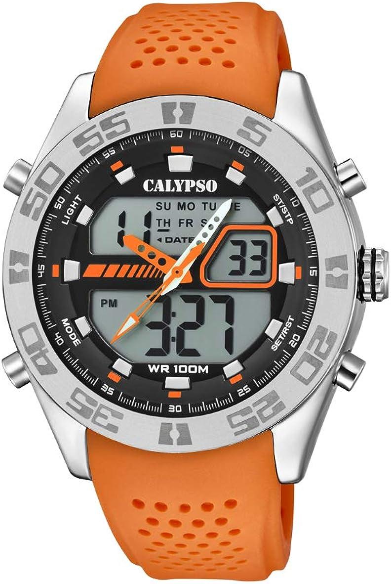 Calypso Watches Reloj Analógico-Digital para Hombre de Cuarzo con Correa en Plástico K5774/1